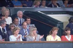 July 3 1989 Diana sat at center court with Fergie and Kate Menzies as McEnroe beats Mats Wilander