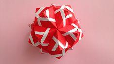 Origami Kusudama sonobe inside out line 30units instructions 折り紙のくす玉 薗部式...