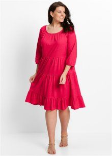Трикотажное платье с рукавом 3/4, bpc bonprix collection, гранатовый