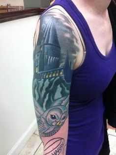 Harry potter sleeve tattoo i would actually like this if for Harry potter sleeve tattoo