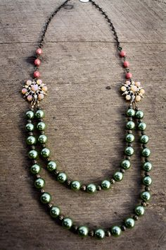 Ashley Necklace  Pearls with Vintage Accents by SweetSageJewelry, $39.00