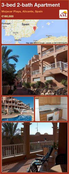 3-bed 2-bath Apartment in Mojacar Playa, Alicante, Spain ►€180,000 #PropertyForSaleInSpain