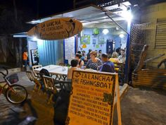 La lancha // San Juan Del Sur // Best seafood place in town, try the lobster tail for 6$