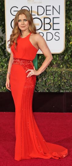 Amy Adams in Versace at the Golden Globes (Photo: Monica Almeida/The New York Times)
