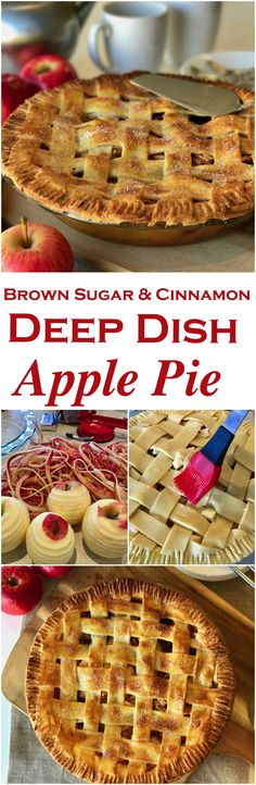 This Deep Dish Apple Pie is a family favorite! An American classic pie recipe with fresh apples, brown sugar, cinnamon with a shortcrust lattice pastry. This will be the only apple pie recipe you'll need!