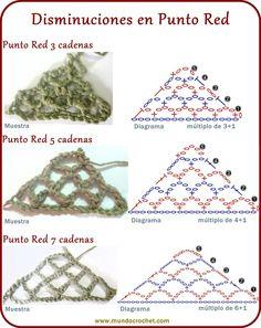 Punto red - Crochet stitch - вязание крючком пунктов