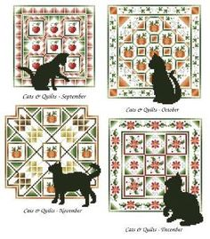 cat quilts | Pamela Kellogg's Cats and Quilts