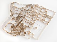 """London based artist Matthew Picton, creates many works revolving around the """"city grid."""" His latest work, """"Paper Sculptures"""" displays grids of cities such as Tehran, San Francisco and Jerusalem. Architecture Mapping, Architecture Models, Urban Architecture, Book Sculpture, Paper Sculptures, City Model, Arch Model, Collage Making, Paper Models"""