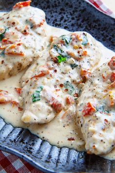 Chicken in a Creamy Parmesan and Sundried Tomato Sauce