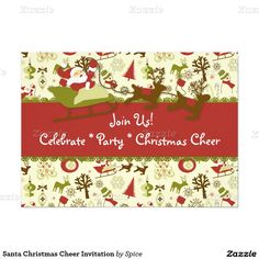 Santa Christmas Cheer Invitation