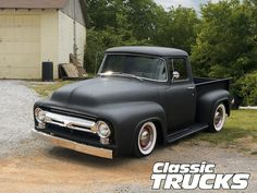 1956 Ford F100 Front View - Love this look