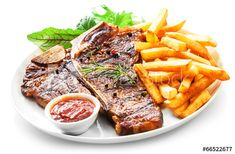 Tender grilled porterhouse or t-bone steak