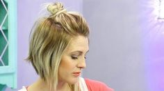 Easy Medium Hair styles For Women - The Half Up Messy Bun Tutorial - Easy Girls ., Peinados, Easy Medium Hair styles For Women - The Half Up Messy Bun Tutorial - Easy Girls Hairstyles. Short Hair Top Knot, Messy Bun For Short Hair, Short Hair Hacks, Messy Buns, Messy Bun Hairstyles, Easy Hairstyles For Medium Hair, Bob Hairstyles, Hair Medium, Fashion Hairstyles
