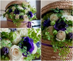 Cutie florala cu trandafiri si anemone Anemone, Cabbage, Floral Design, Boxes, Vegetables, Crates, Floral Patterns, Cabbages, Box