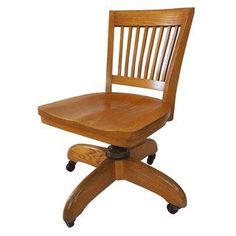 Solid Oak Swivel Chair - SOLD