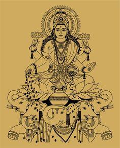 Lakshmi, the Hindu goddess of wealth, prosperity, fortune, and beauty