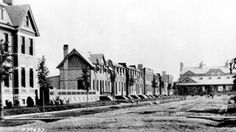 The Pullman company town, looking south toward Market Hall, before South Side Chicago, Pullman Train, Company Town, Chicago Photos, Chicago Tribune, African American History, Historical Photos, Obama, Illinois