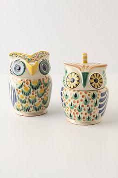 owl cream and sugar... will make my owl kitchen perfect!