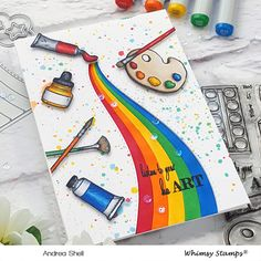 Rainbow of Art Supplies – Blissfully Scrappy Bullet Journal Books, Bullet Journal School, Bullet Journal Ideas Pages, Art Journal Pages, Canvas Painting Tutorials, Diy Painting, Cool Art Drawings, Art Drawings Sketches, Architecture Concept Drawings