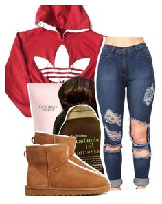 """6:43"" by v-iews ❤ liked on Polyvore featuring adidas, Victoria's Secret, Organix and UGG Australia"