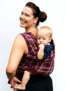 PLAID! Baby Wrap Carrier Woven Cotton Gauze Double Layer by BabyEtte, $50.00
