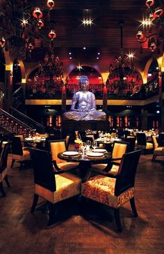 Buddha Bar Paris. I was there a few years ago and the interior is beautiful but the food (at the time) was tres average.