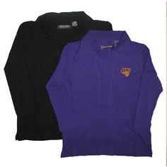 Oxford America women's black and purple 3/4 sleeve v-neck t-shirt. $54.99