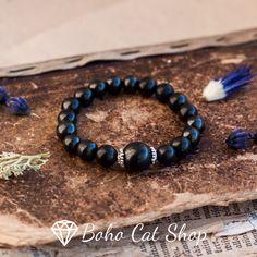 Shungite Bracelet  Crystal Healing Protection Wrist Mala
