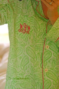 Cute monogram pajamas