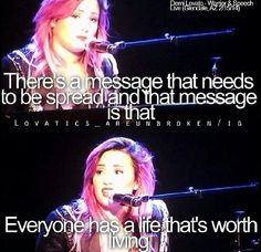 Demi Lovato's warrior speech from her neon lights tour! She is so beautiful and inspirational!