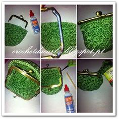 Crochet Wallet, Crochet Belt, Crochet Coin Purse, Crochet Purses, Crochet Stitches, Crochet Patterns, Coin Purse Tutorial, Envelope Pattern, Wallet With Coin Pocket