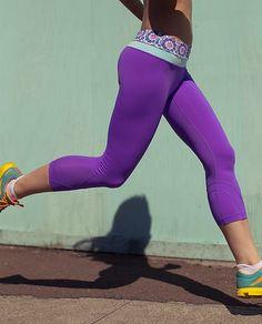 Purple Lululemon running pants