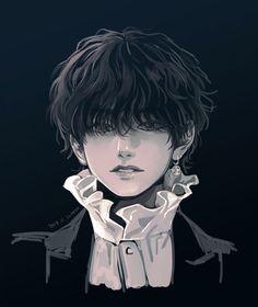 fan art Credits to the a - art Jungkook Fanart, Fanart Bts, Bts Anime, Anime Guys, Manga Anime, Anime Angel, V Chibi, Animé Fan Art, Kpop Drawings