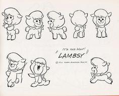 Hanna-Barbera's Lambsy from It's the Wolf! 1970 Cartoons, Disney Cartoons, Kids Cartoon Characters, Cartoon Kids, Simple Character, Character Art, Flintstone Cartoon, Desenhos Hanna Barbera, Character Design Animation