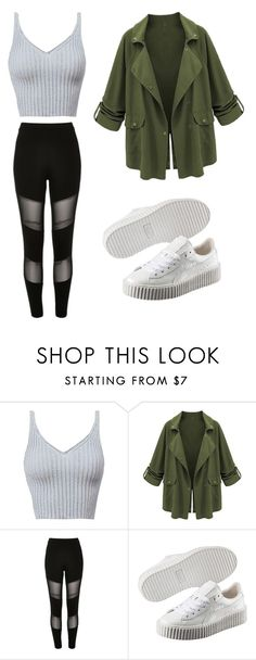 """its kool ✌"" by tumblr-outfits12 on Polyvore featuring River Island and Puma"