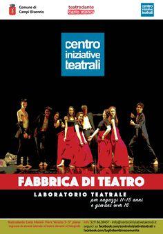 Materiale informativo del corso Fabbrica Teatro del Centro Iniziative Teatrali Campi Bisenzio