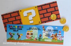 Super Mario Brothers Birthday Party #planning #ideas #decorations #cake #idea (52)