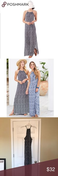 """🎈NWOT💃🏼MUD PIE💃🏼 MAXI DRESS BLACK & WHITE Beautiful maxi dress from Mud Pie.  Racerback with keyhole drawstring closure.  Measures approximately 55"""" from shoulder to hem. 100% rayon. Mud Pie Dresses Maxi"""