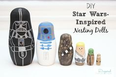 Make your own Star Wars gift for a favorite boy in your life - DIY nesting dolls are easy, cheap, and will be meaningful.