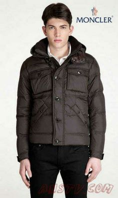 Moncler Hommes Rentilly In MARRON