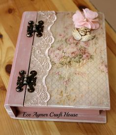 Beautiful lace and decoupage