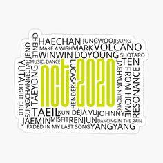 Printable Stickers, Planner Stickers, Nct Logo, Sticker Printer, Kpop Logos, Nct Kun, Preppy Stickers, Nct Album, Nct Dream