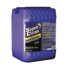SuperClean 100725 Cleaner Degreaser – 5 Gallon Pail  SuperClean 100725 Cleaner Degreaser - 5 Gallon Pail SuperClean Cleaner Degreaser is available in 32 ounce spray bottle, 1 gallon, 2.5 gallon and 5 gallon bottles for bigger jobs and cost savings. It dissolves grease on contact and quickly removes grime, oil, wax, dirt and tar. Industrial strength, yet biodegradable and phosphate free. Use powerful SuperClean cleaner degreaser at full strength for your toughest tasks. Dilute it for ..