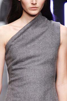 osman-fall-2013, gray asymmetrical wool dress #minimalist #fashion #style