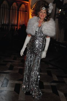 The Duchess of Rutland at her husband's Twenties-themed 50th-birthday party