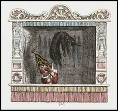 Punch and Judy by George Cruikshank, 1828.