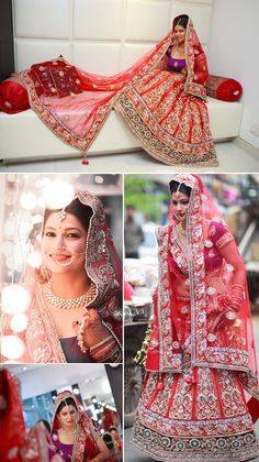 Real Indian Wedding Ceremony - Gorgeous Indian Bride in red Lehenga, Photography by Tarun Chawla