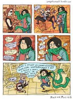 Page 4. of the Knitter comic.