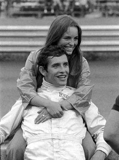 Catherine and Jacky Ickx (BEL) in relaxed mood in the pits Austrian GP, Osterriechring, 16 August 1970 Formula 1, Gp Moto, Austrian Grand Prix, Race In America, Gilles Villeneuve, Racing Events, Ferrari F1, F1 Drivers, Trophy Wife