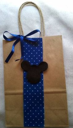 Sacolinha Kraft Tema Mickey & Minnie